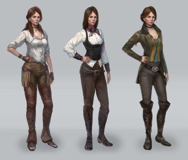 Wild West Online Character Customization Concept Art Shows