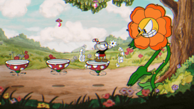Playstation 4 version of Cuphead
