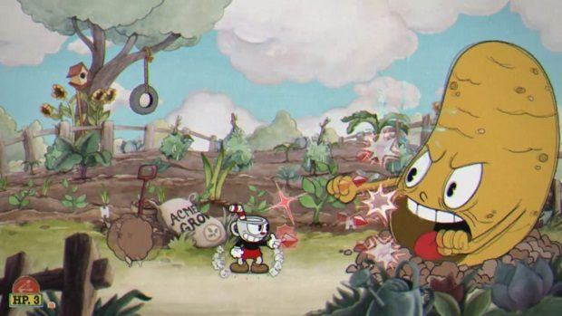 Cuphead The Root Pack Boss Fight Guide | Cuphead Best Weapons and Abilities Guide