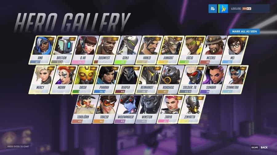 """Overwatch PTR Adds Highly Useful """"Mark All as Seen"""" Feature"""