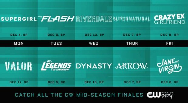 Midseason Finale Dates