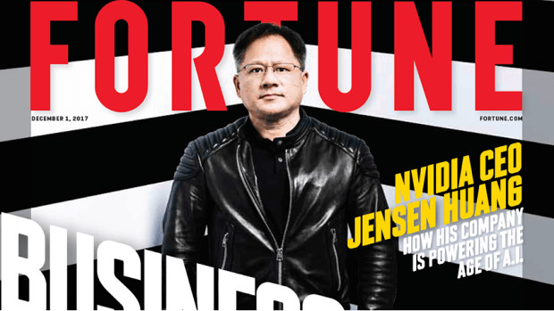 Nvidia CEO Jensen Huang Fortune Magazine Businessperson Of The Year 2017