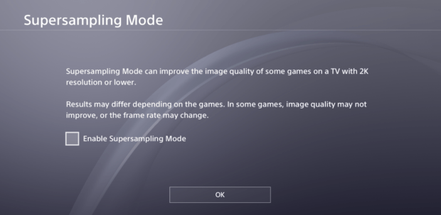 PS4 System Update 5.50 To Introduce Super-Sampling To PS4 Pro