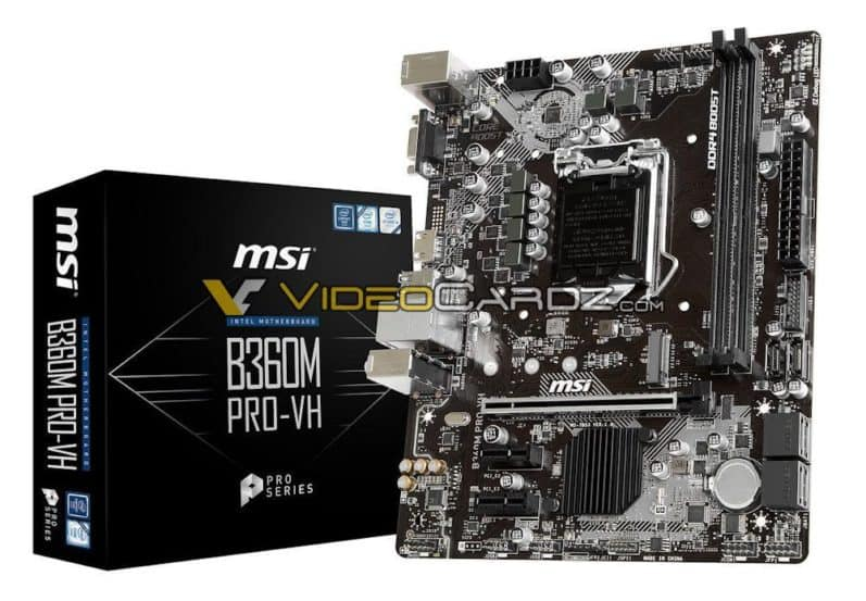 MSI, Asus And ASRock B360, H370 and H310 Motherboards For Intel