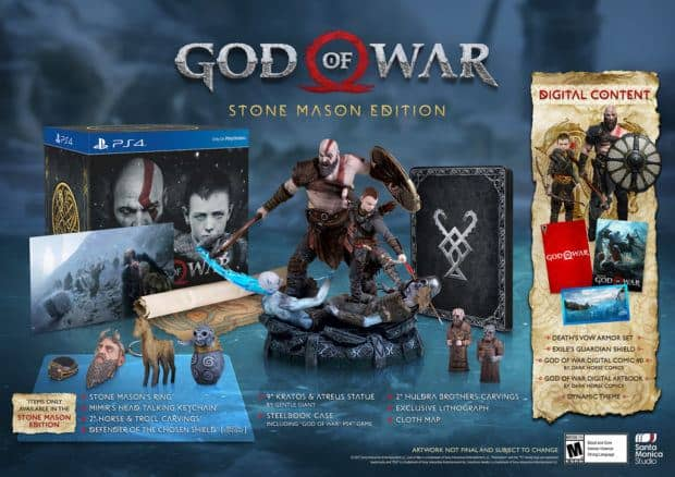 God Of War Pre-order Bonuses