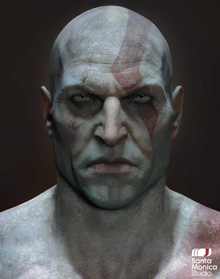 Here's a Picture of Kratos Without His Beard