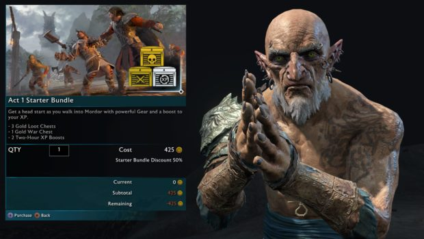 Shadow Of War microtransactions