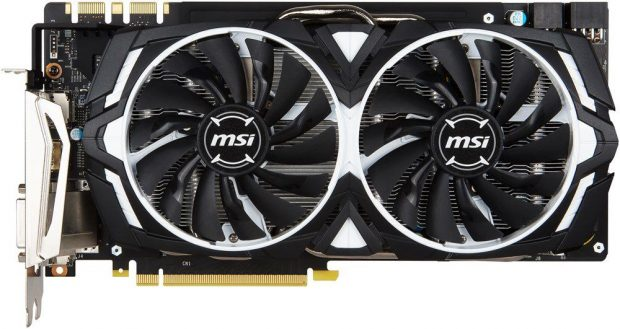 MSI GTX 1080 ARMOR Available For 32% Off, Grab It While You Can