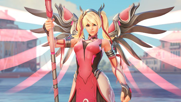 Sony Clarifies They Are Not Profiting From Overwatch's Pink Mercy Skin