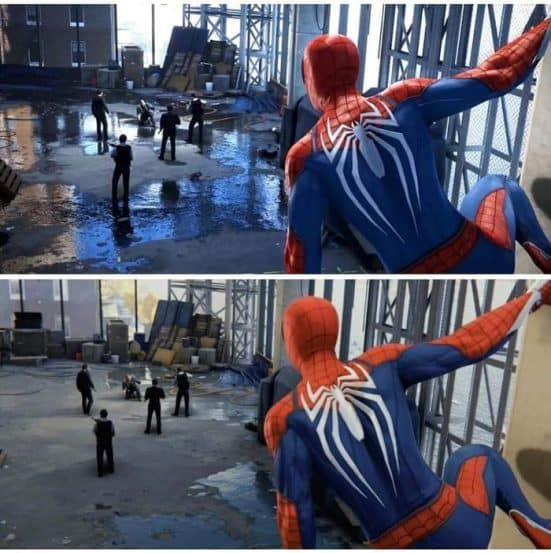 Spiderman PS4 downgrade