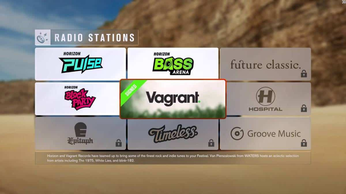 forza horizon 4 radio stations