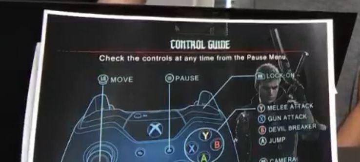 Devil May Cry 5 Control Scheme