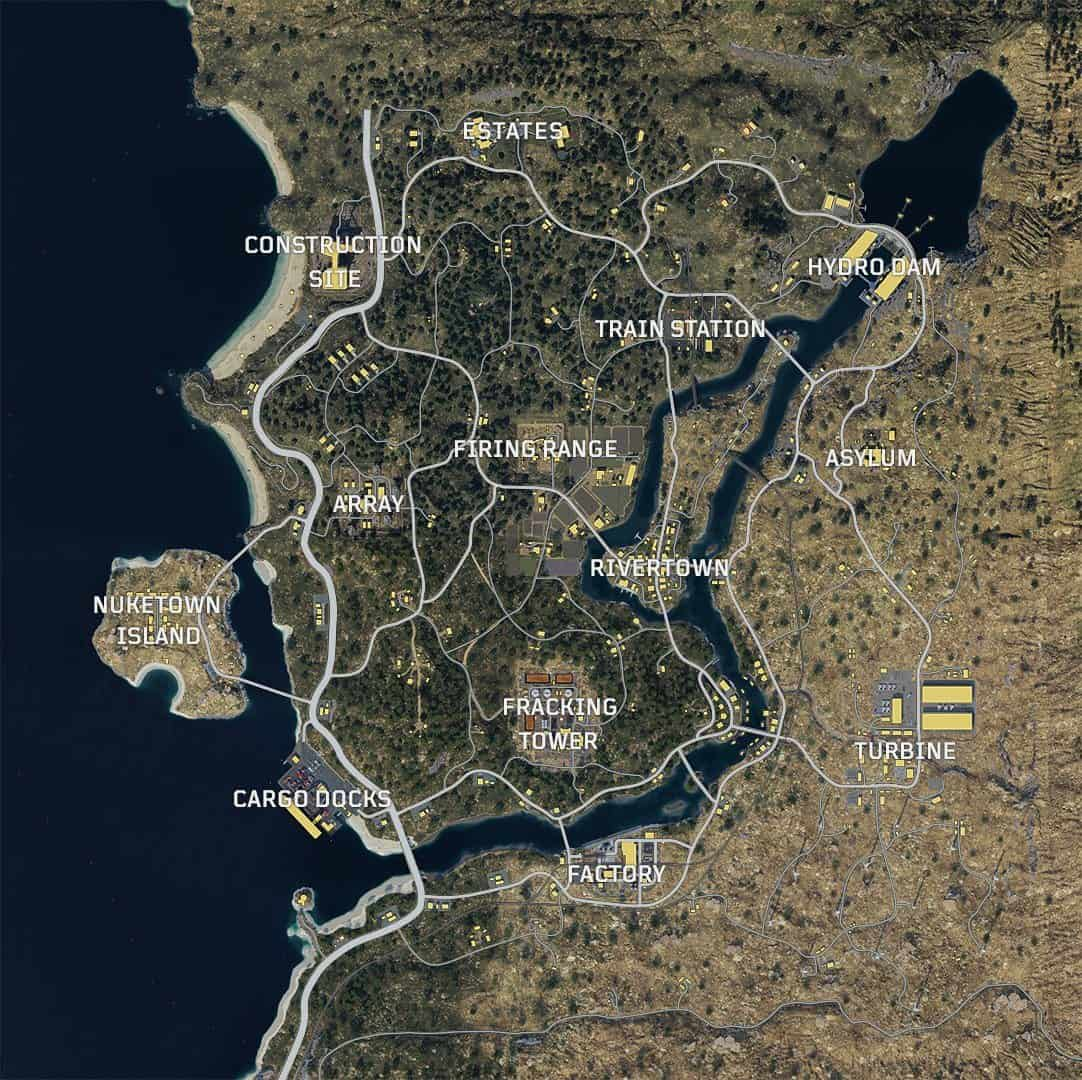 Check Out Call of Duty: Black Ops 4's Blackout Map, Includes ... on