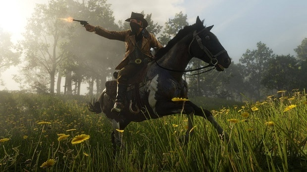 You can fish with dynamite in Red Dead Redemption 2