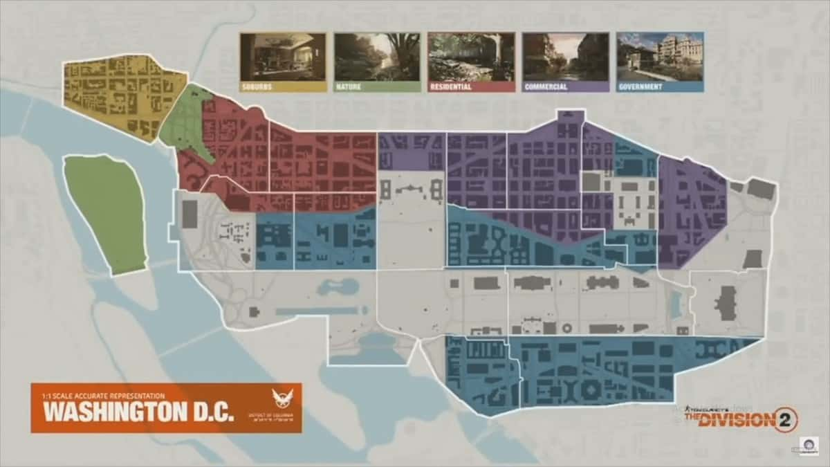 The Division 2 Locations