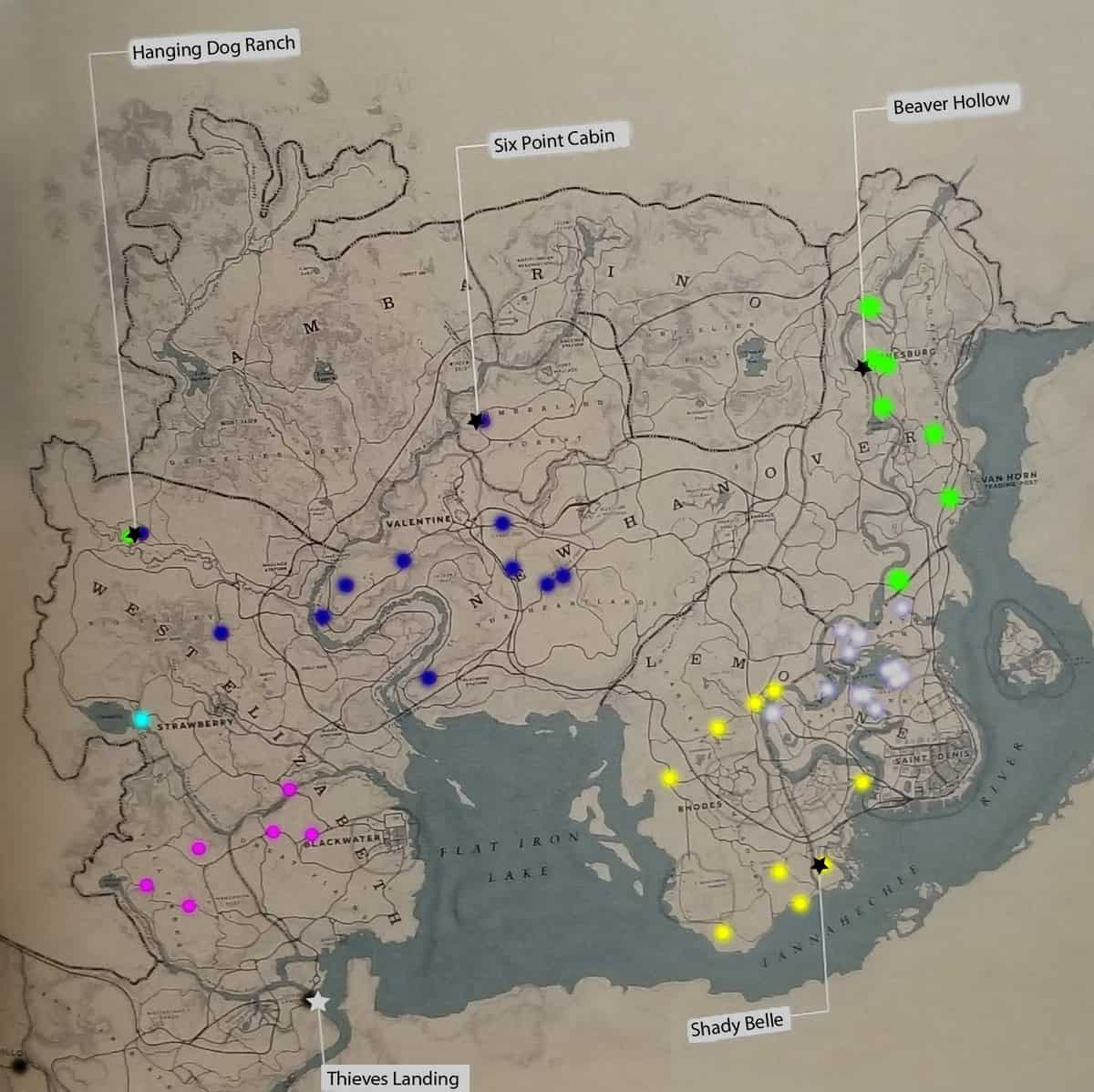 Red Dead Redemption 2 Gangs Locations