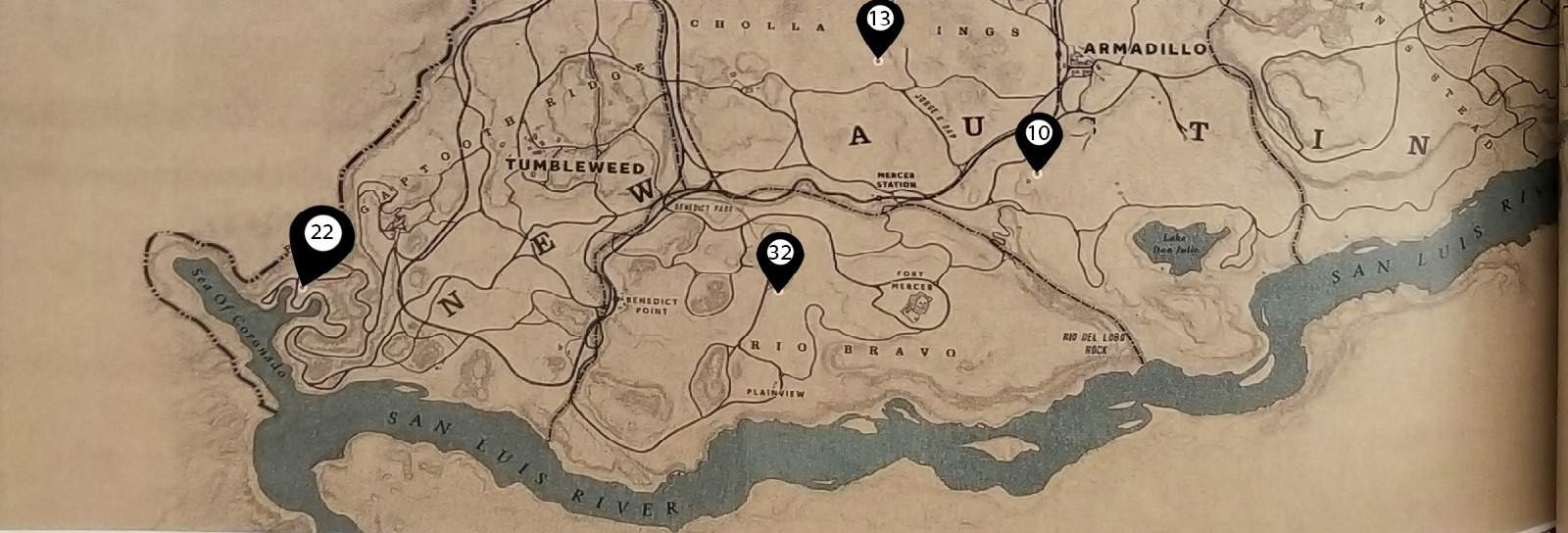 Red Dead 2 World Map.Red Dead Redemption 2 Points Of Interest Locations Guide Segmentnext