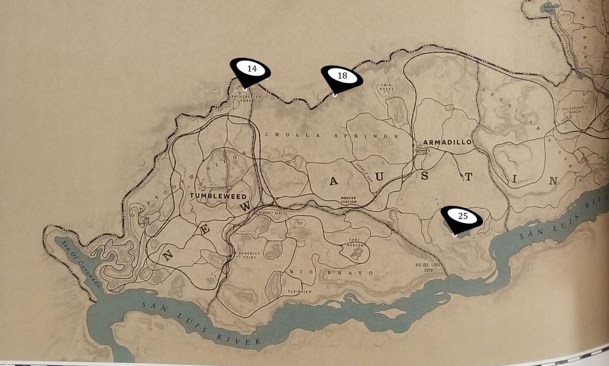 Red Dead Redemption 2 Unique Collectible Items Locations