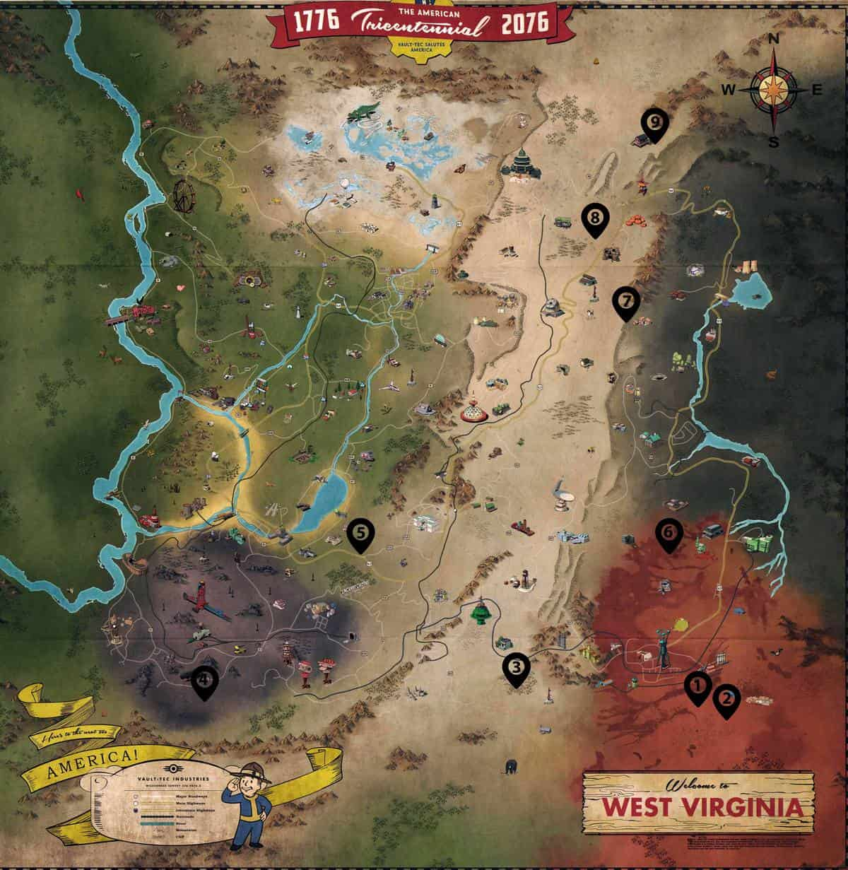 Fallout 76 Fissure Sites Locations Guide