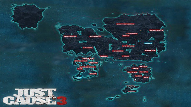 Just Cause 4 map size, Just Cause 3