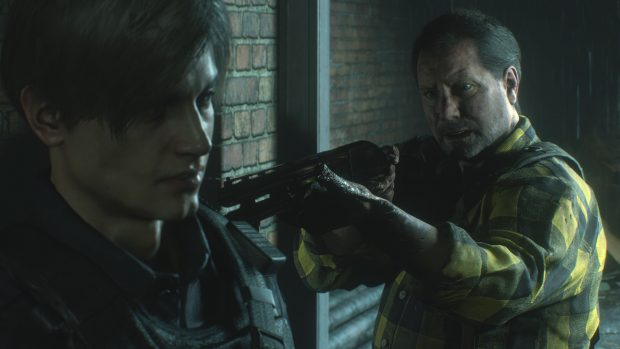 Shotgun in Resident Evil 2 Remake Demo