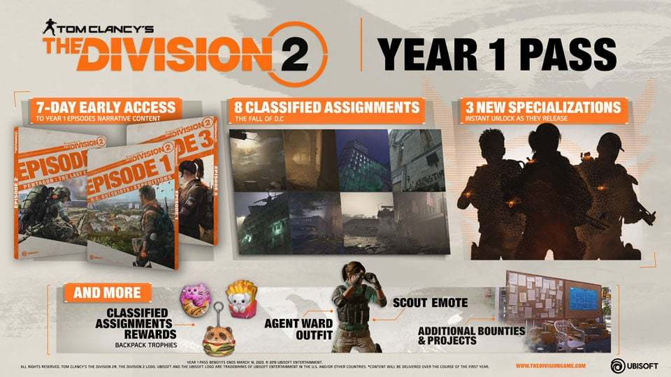 The Division 2 year 1 season pass