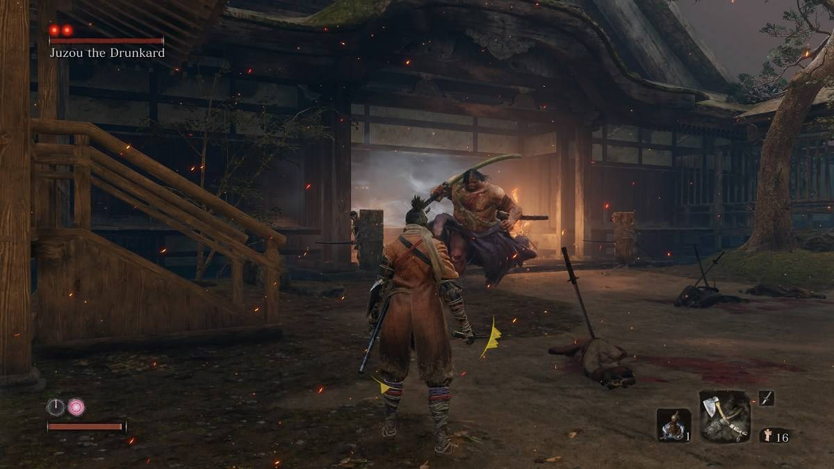 Sekiro Shadows Die Twice Juzou the Drunkard Boss Guide – How to Beat, Rewards, Attacks and Strategies