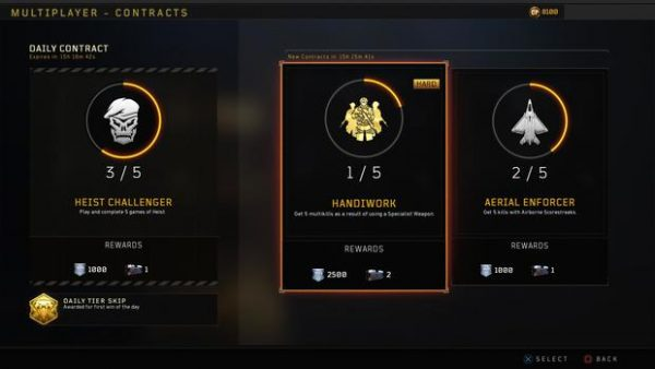 Black Ops 4 contracts