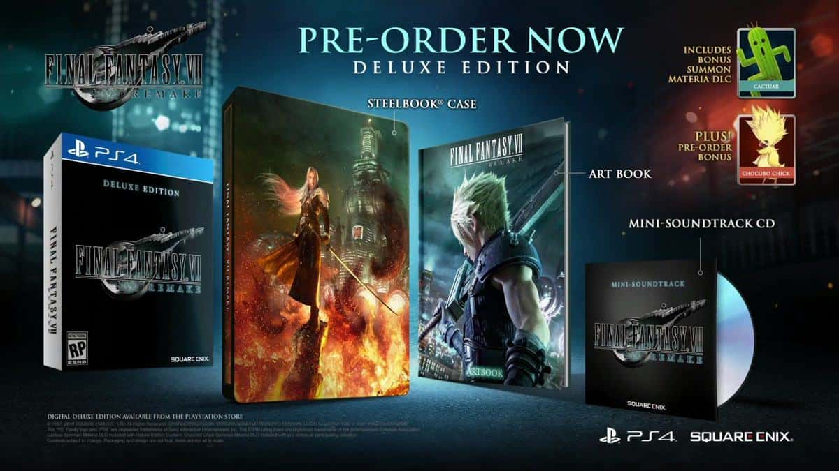 final fantasy vii collector's edition