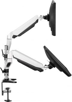 FITUEYES Dual Gas Spring Full Motion Arm Mount