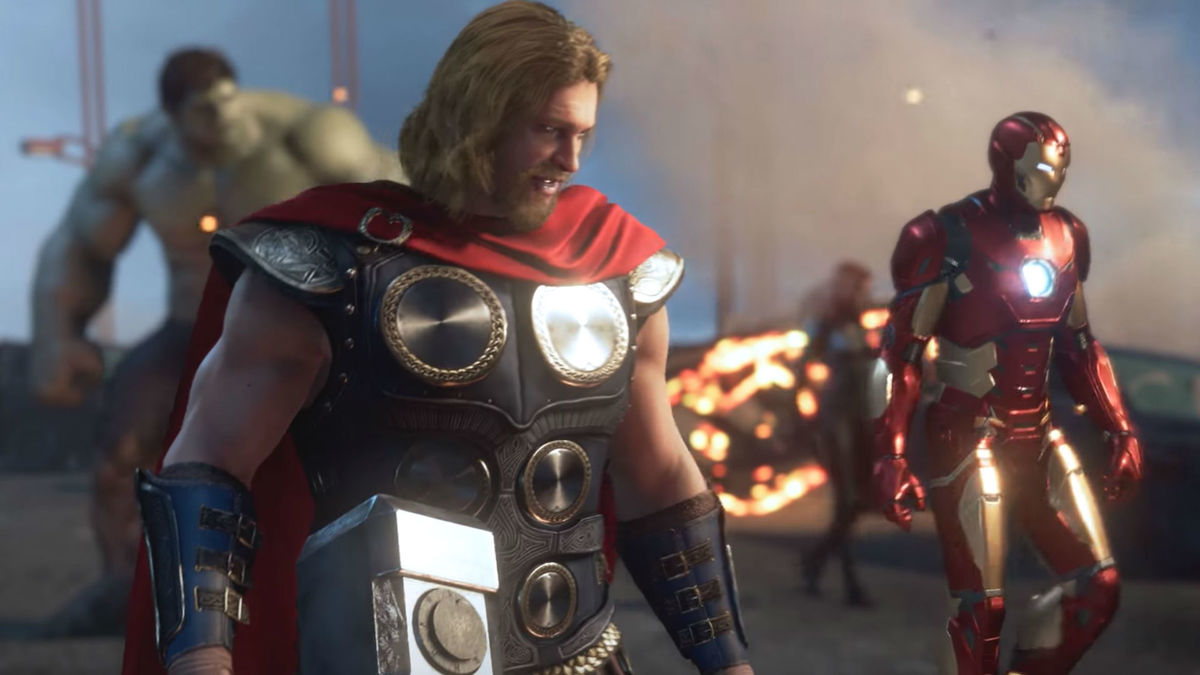 Leaked Marvel's Avengers Gameplay Shows Thor at Work With Mjölnir