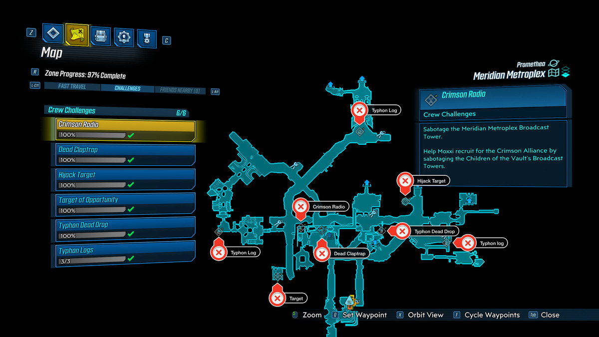 Borderlands 3 Meridian Metroplex Challenges Guide – Collectible Locations, Where to Find