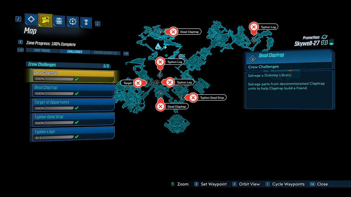 Borderlands 3 Skywell-27 Challenges Guide – Collectible Locations, Where to Find