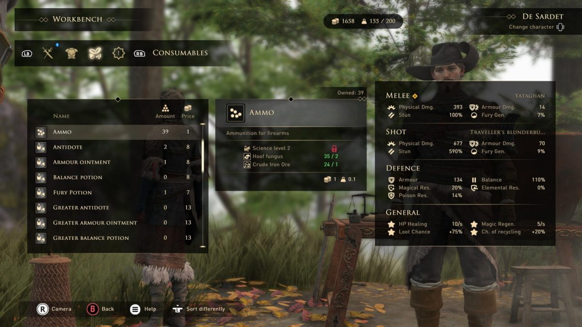 Greedfall Crafting Guide – Crafting Recipes, Where to Find Crafting Materials