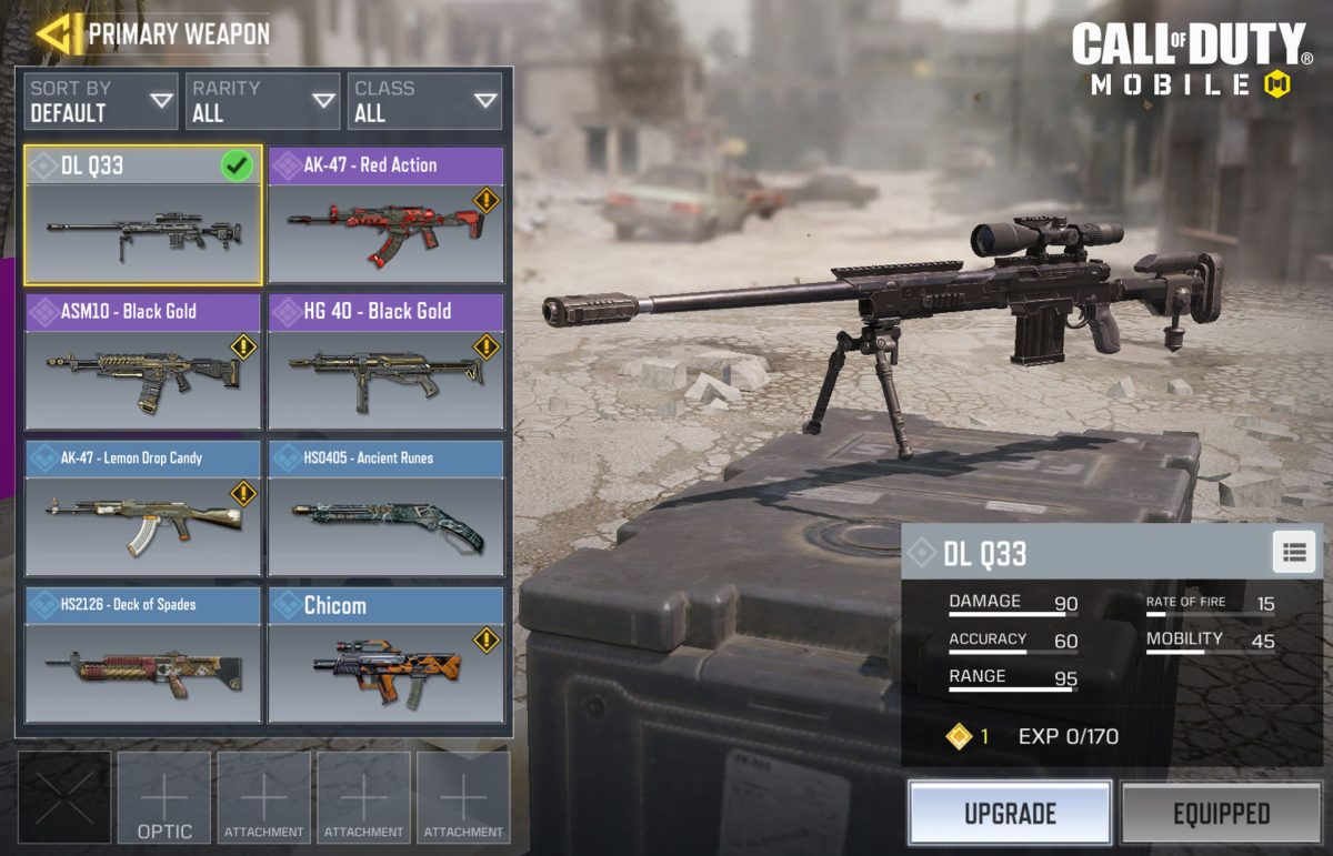 Call of Duty Mobile Weapons Tier List
