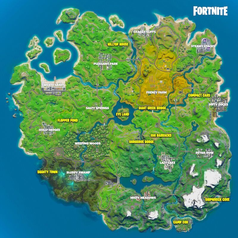 Fortnite Chapter 2 Landmark Locations Guide