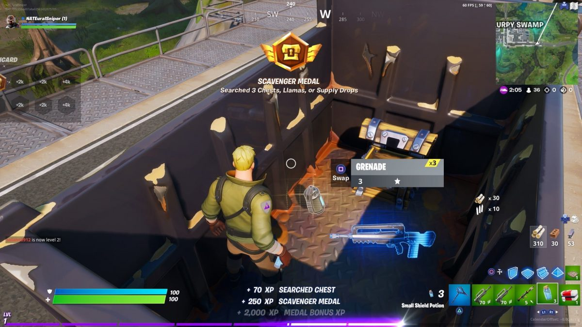 Fortnite Chapter 2 Search Chests at Sweaty Sands or Retail Row