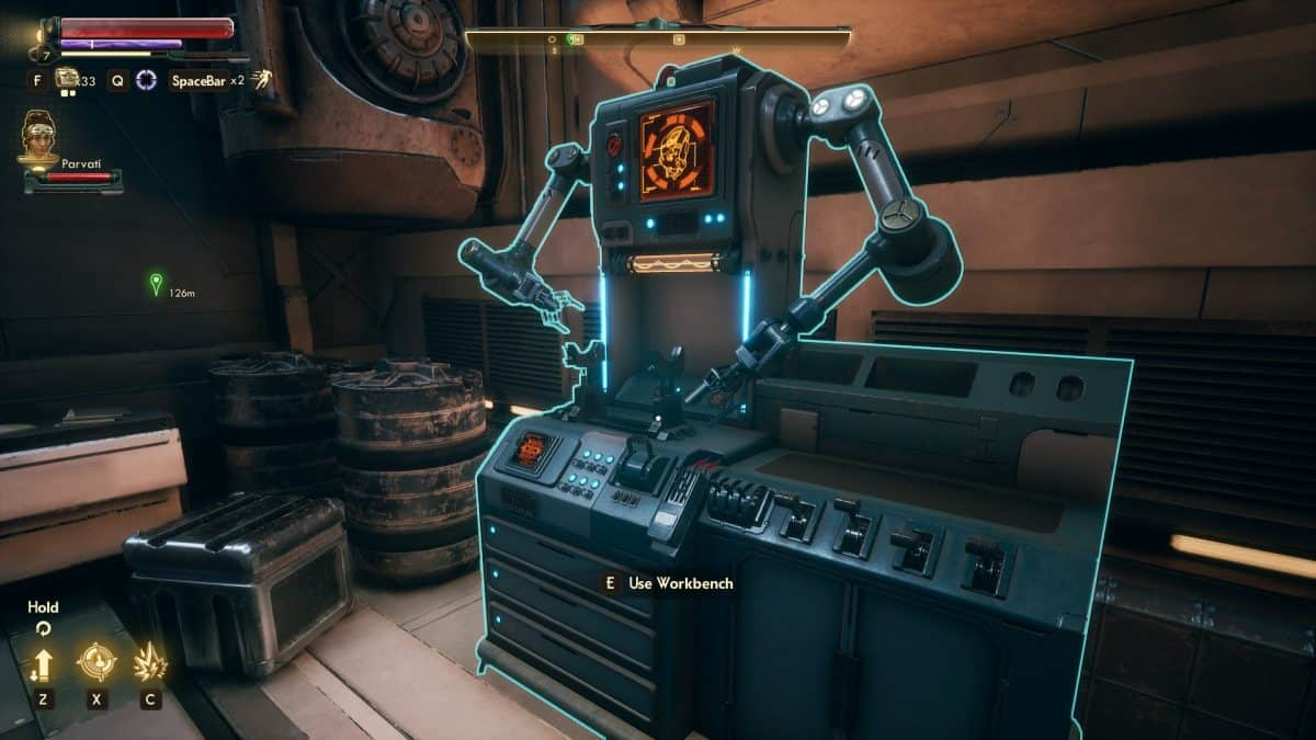 The Outer Worlds Workbench