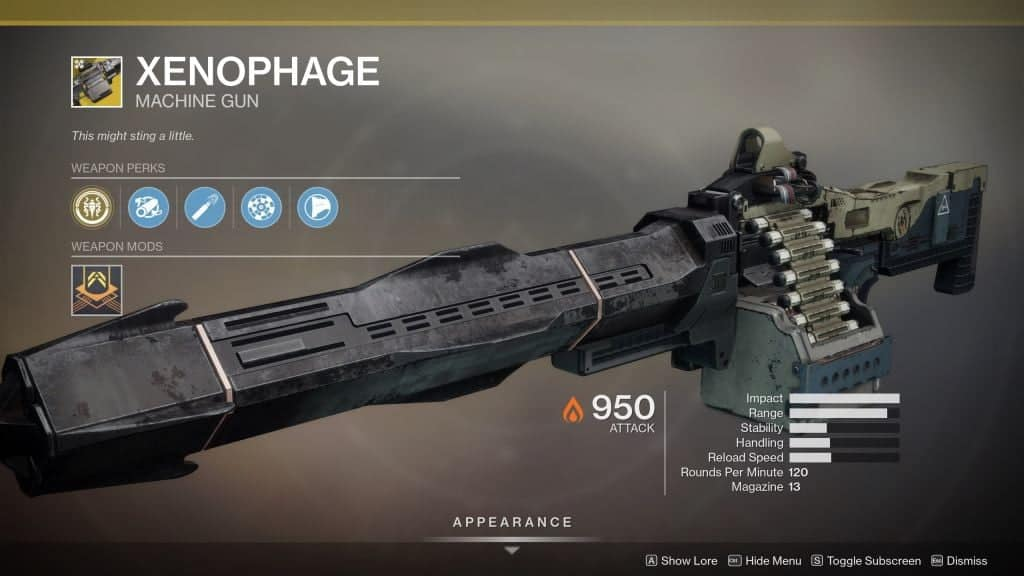 Destiny 2 Shadowkeep Xenophage Exotic