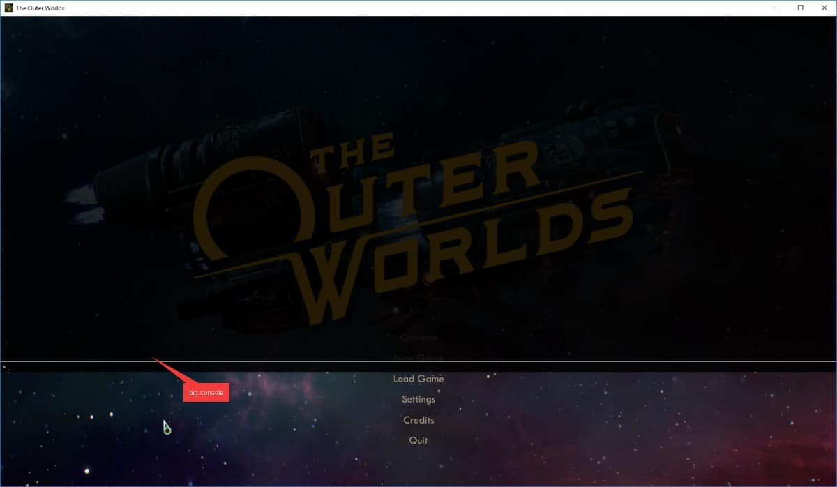 The Outer Worlds Console Commands List