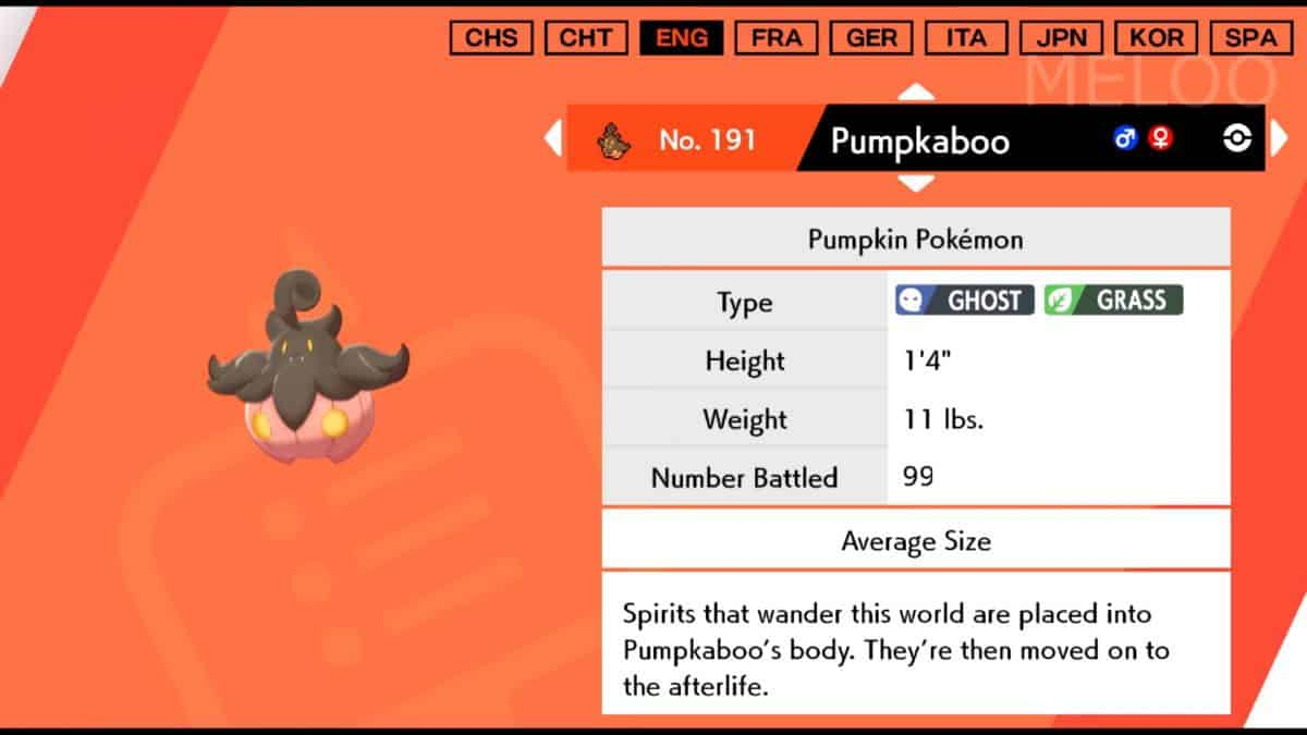 Pokemon Sword and Shield Pumpkaboo Locations, How to Catch and Evolve