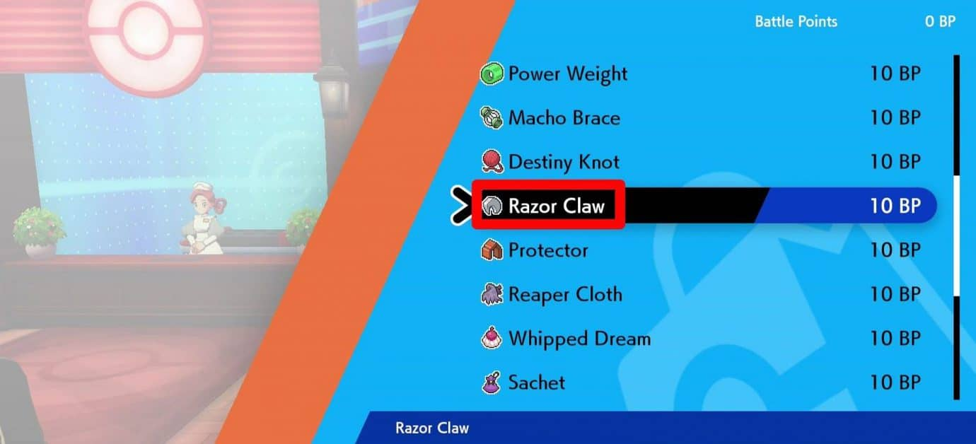 Pokemon Sword and Shield Razor Claw location