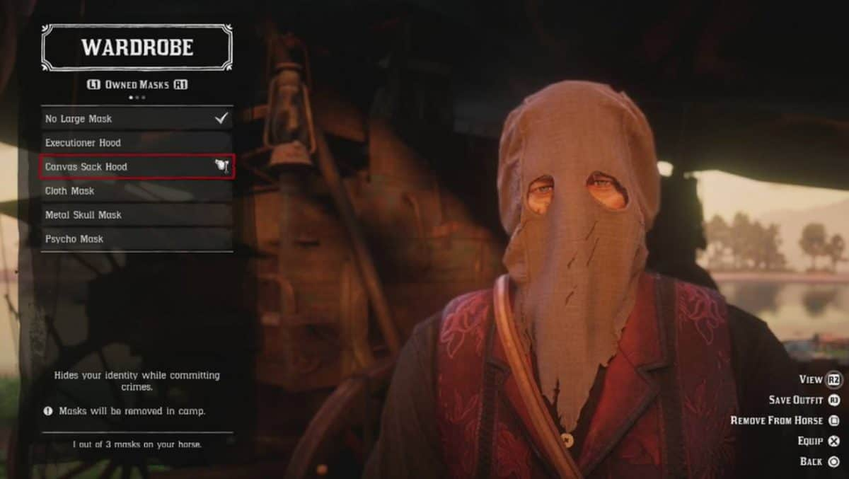 Red Dead Redemption 2 Masks Location