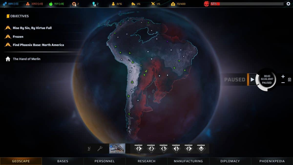 Phoenix Point Factions and Diplomacy