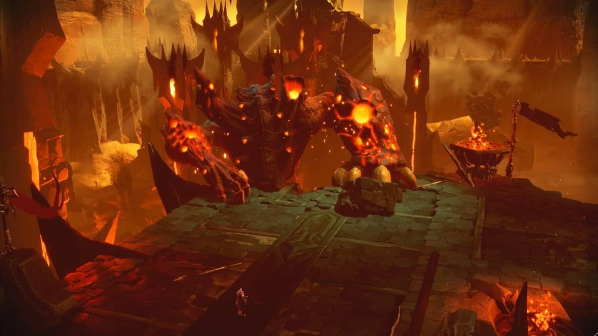 Darksiders Genesis Hollow Fiend boss