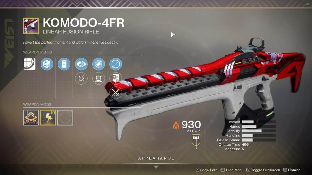 How to Get Komodo 4FR Ritual Weapon in Destiny 2