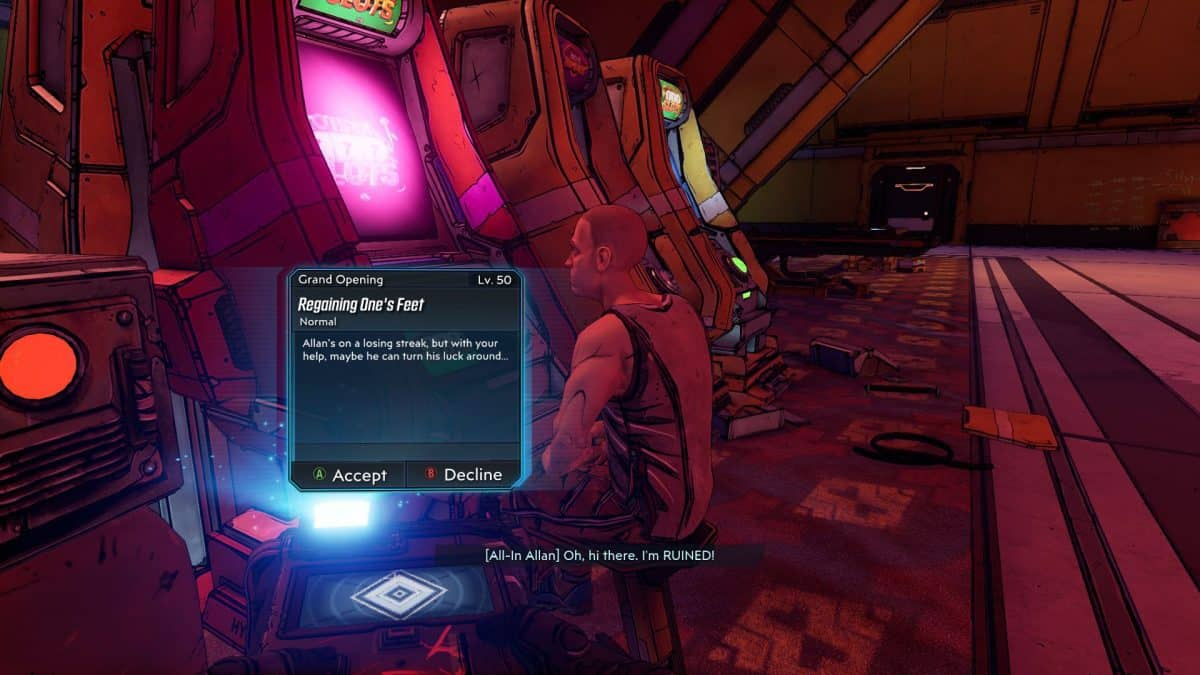 Borderlands 3 Moxxi's Heist Regaining One's Feet Side Quest Guide