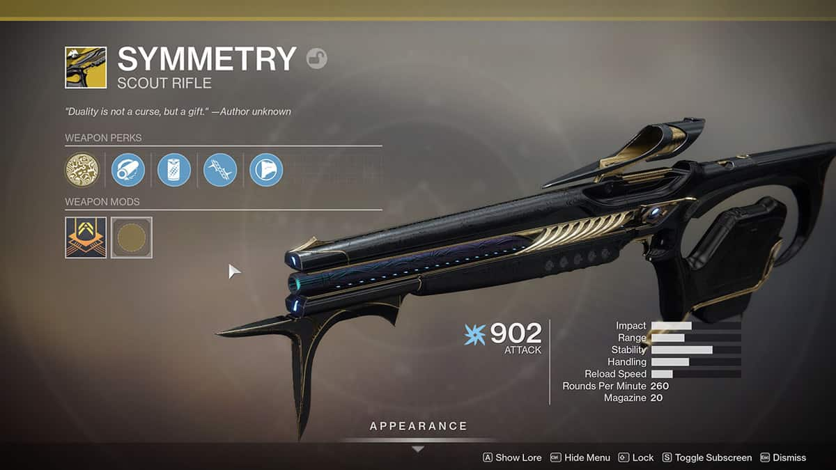 How to Get Symmetry Exotic Scout Rifle in Destiny 2