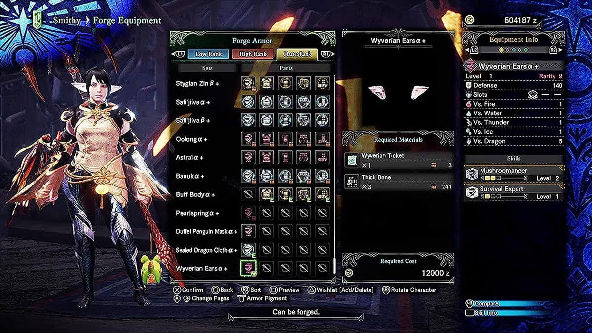 How to Get Wyverian Ears Armor in Monster Hunter World