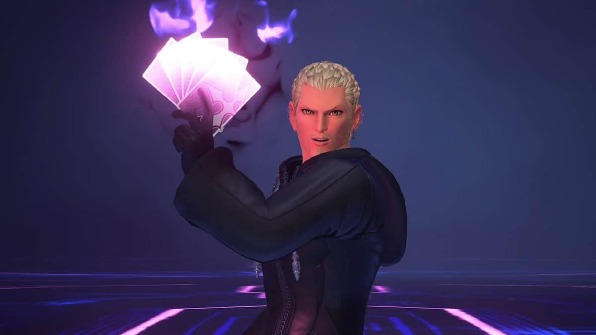 Kingdom Hearts 3 ReMind Luxord Boss fight